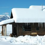 Hold Your Horses Cabin in Winter